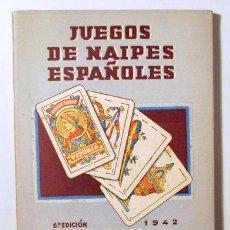 Coleccionismo deportivo: JUEGOS DE NAIPES ESPAÑOLES - VITORIA 1942. Lote 272213658