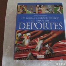 Coleccionismo deportivo: LAS REGLAS Y CARACTERISTICAS DE TODOS LOS DEPORTES. Lote 273251593