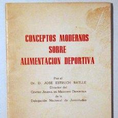 Coleccionismo deportivo: ESTRUCH BATLLE, JOSE - CONCEPTOS MODERNOS SOBRE ALIMENTACIÓN DEPORTIVA - BARCELONA 1961. Lote 273903243
