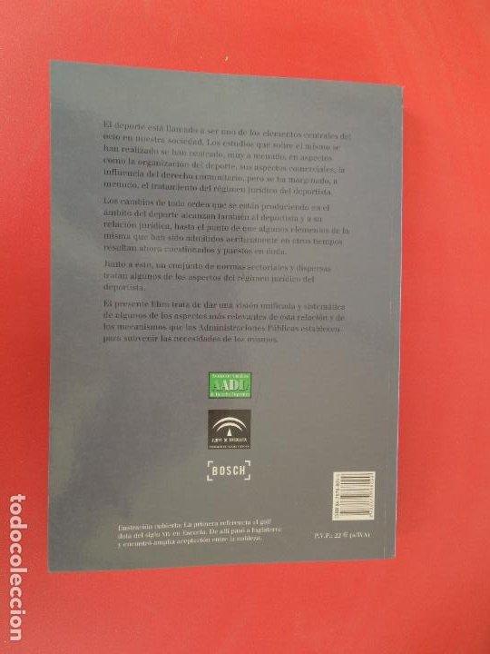 Coleccionismo deportivo: EL RÉGIMEN JURÍDICO DEL DEPORTISTA - ALBERTO PALOMAR OLMEDA - BOSCH EDITORIAL 2001. - Foto 2 - 274918063