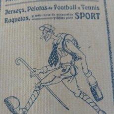 """Coleccionismo deportivo: LOS """"SPORT"""": NATACIÓN. AÑOS 1920-1930. CON PUBLICIDAD DE ÉPOCA. Lote 276558113"""