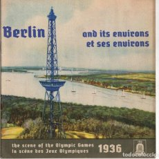 Coleccionismo deportivo: CATALOGO JUEGOS OLIMPICOS BERLIN 1936. BERLIN AND ITS ENVIRONS. THE SCENE OF THE OLYMPIC GAMES. Lote 278211913