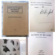 Coleccionismo deportivo: ROWLAND WARD'S RECORDS OF BIG GAME, XVIITH EDITION (AFRICA) 1977 BEST, ANTHONY A., ED.,. Lote 278219633