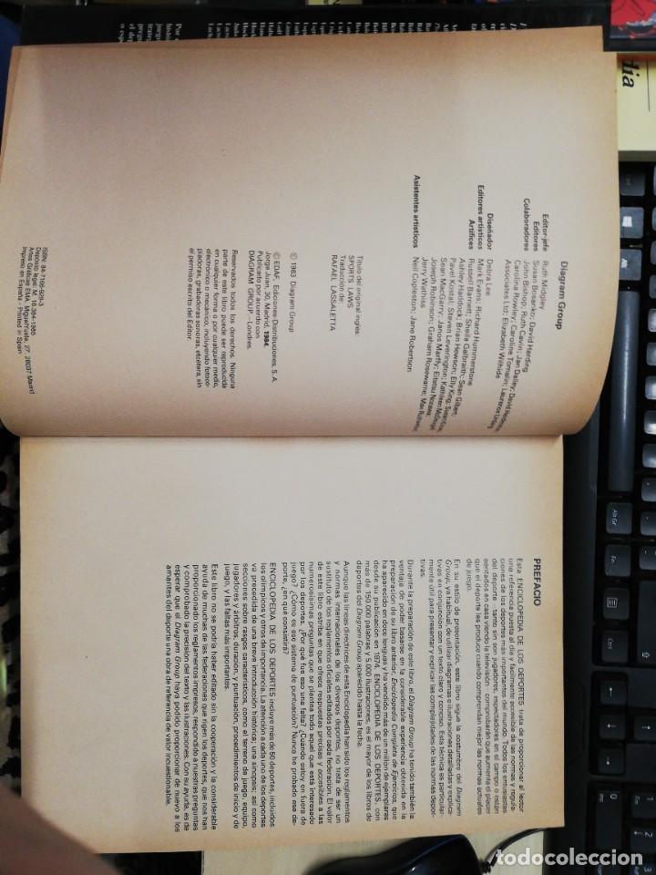 Coleccionismo deportivo: ENCICLOPEDIA COMPLETA DE LOS DEPORTES. DIAGRAM GROUP. EDAF. 1984 - Foto 3 - 278826263