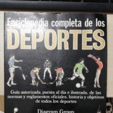Coleccionismo deportivo: ENCICLOPEDIA COMPLETA DE LOS DEPORTES. DIAGRAM GROUP. EDAF. 1984. Lote 278826263
