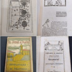 Coleccionismo deportivo: EL JUEGO A MANO SEMBLANZAS DE PELOTARIS JUAN DE IRIGOYEN EXCELSIOR 1926 PELOTA MANO PAIS VASCO. Lote 285115268