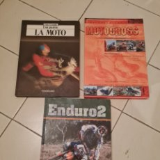 Coleccionismo deportivo: 3 LIBROS LA MOTO Y DEPORTES ENDURO Y MOTOCROSS. Lote 285372003