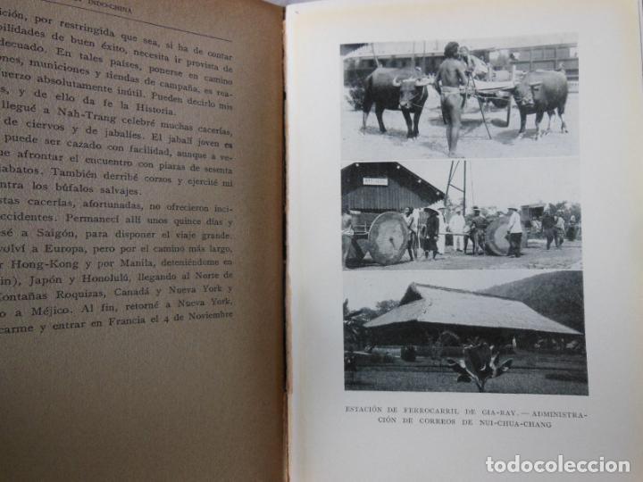 Coleccionismo deportivo: INDO-CHINA: MIS CACERIAS, MIS VIAJES, COSTUMBRES DE PAISES EXÓTICOS. DUQUE DE MONTPENSIER - Foto 2 - 287327573