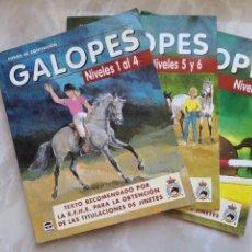 Coleccionismo deportivo: 3 LIBROS GALOPES NIVELES 1 AL 7 HÍPICA-TEXTO RECOMENDADO POR RFHE JINETES-CABALLOS -CERTIF 5,99. Lote 288009423