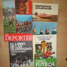 Coleccionismo deportivo: LOTE 6 LIBROS - FUTBOL / JUEGOS OLIMPICOS / DEPORTES / DEPORTES ACUATICOS - DISPONGO DE MAS LIBROS. Lote 288013383
