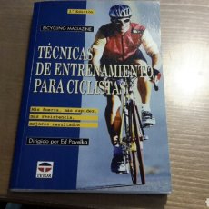 Libros: TÉCNICAS DE ENTRENAMIENTO PARA CICLISTAS. Lote 87520679