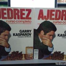 Libros: AJEDREZ CURSO COMPLETO (2 TOMOS) GARRY KASPAROV. Lote 89995408