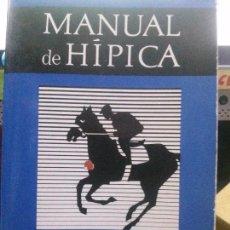 Livros: MANUAL DE HIPICA. Lote 196511088