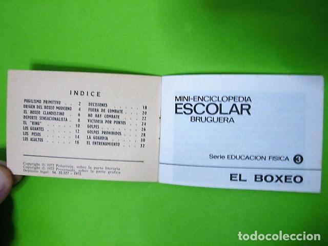 Libros: EL BOXEO MINI-ENCICLOPEDIA ESCOLAR BRUGUERA 1972 - Foto 3 - 106079935