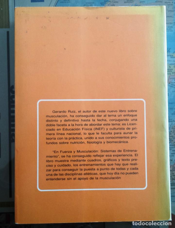 Libros: FUERZA Y MUSCULACION - SISTEMAS DE ENTRENAMIENTO - J. Gerardo Ruiz Alonso 1.990 - Foto 2 - 106569619