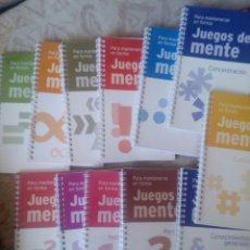 Libros: JUEGO DE MENTE. 12 LIBROS. Lote 109165487