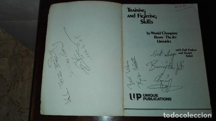 Libros: Libro de Benny Urquidez llamado the jet firmado por el. TRAINING AND FIGHTING SKILLS - Foto 2 - 112595859