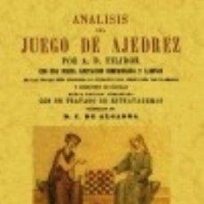 Libros: ANÁLISIS DEL JUEGO DEL AJEDREZ. Lote 67908050