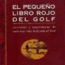 Libros: EL PEQUEÑO LIBRO ROJO DEL GOLF TUTOR. Lote 92488385