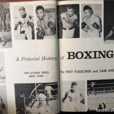 Libros: LIBRO A PICTORICAL HISTORY OF BOXING 1959. Lote 133217266