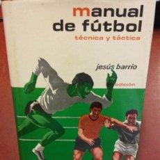 Libros: STQ.JESUS BARRIO.MANUAL DE FUTBOL.EDT, HISPANO EUROPEA... Lote 143963738