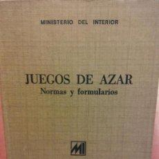 Libros: STQ.JUEGOS DE AZAR.MINISTERIO DEL INTERIOR..BRUMART TU LIBRERIA. Lote 144210430