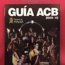 Libros: GUIA BALONCESTO ACB 2009 2010 - OCTUBRE 2009. Lote 147384918