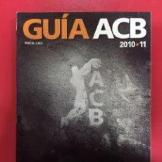 Libros: GUIA BALONCESTO ACB 2010 2011 . Lote 147385226