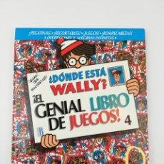 Libri: ¿DONDE ESTA WALLY? ¡EL GENIAL LIBRO DE JUEGOS! NUMERO 4. Lote 155373646