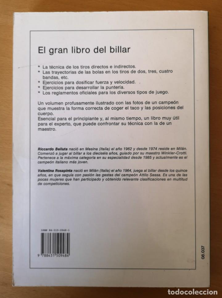 Libros: Libro de BILLAR - Foto 2 - 166666670
