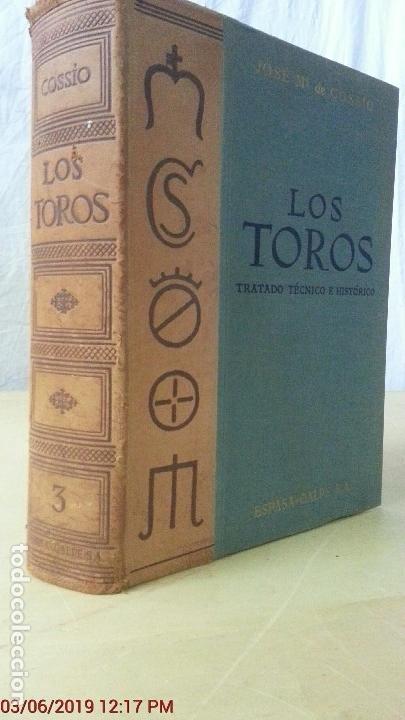 LOS TOROS - COSSIO - 1969 - TOMO III - EDITORIAL ESPASA-CALPE (ILUST) (Libros Nuevos - Ocio - Deportes y Juegos)