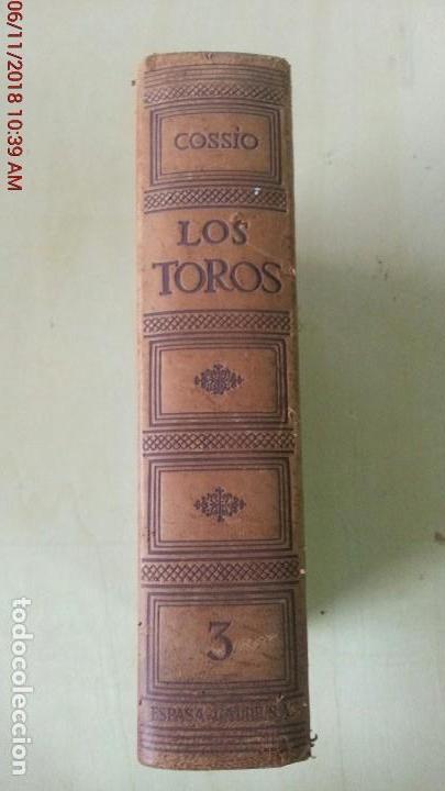 Libros: LOS TOROS - COSSIO - 1969 - TOMO III - EDITORIAL ESPASA-CALPE - Foto 2 - 140068282