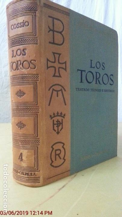 LOS TOROS - COSSIO - 1967 - TOMO IV - EDITORIAL ESPASA-CALPE (ILUST) (Libros Nuevos - Ocio - Deportes y Juegos)