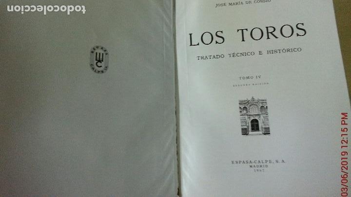 Libros: LOS TOROS - COSSIO - 1967 - TOMO IV - EDITORIAL ESPASA-CALPE (ILUST) - Foto 4 - 140068538