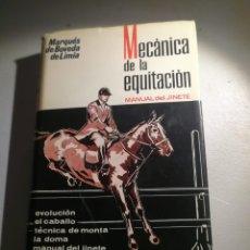 Libros: MECÁNICA DE LA EQUITACIÓN MANUAL DEL JINETE. Lote 177420482