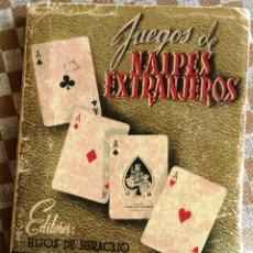Libros: JUEGOS DE NAIPES EXTRANJEROS 1951. Lote 181636898