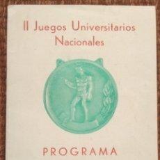 Livros: II JUEGOS UNIVERSITARIOS NACIONALES 1945 - PROGRAMA. Lote 182138535