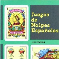 Libros: JUEGOS DE NAIPES ESPAÑOLES (HERACLIO FOURNIER) CASTILLA 1996. Lote 182381316