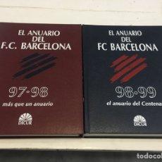 Libros: LOTE DOS ANUARIOS FC BARCELONA. Lote 183843495