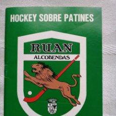 Libros: JOCKEY SOBRE PATINES. RUAN ALCOBENDAS.ALCOBENDAS 1980 RUAN SA ARTES GRAFICAS TC168. Lote 184617321