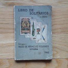 Libros: LIBRO DE SOLITARIOS, HIJOS DE HERACLIO FOURNIER,. Lote 187086132