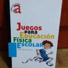 Libros: JUEGOS PARA EDUCACIÓN FISICA ESCOLAR ANTONIO J. MONROY ANTÓN (COORD.) FUNDACIÓN CIDIDA. Lote 187494623
