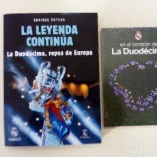 Libros: LA LEYENDA CONTINUA. LA DUODECIMA, REYES EUROPA + DVD DE REGALO-ED. ESPASA LIBROS-2018-NUEVO Y PRECI. Lote 196523607