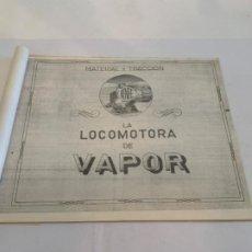 Libros: LA LOCOMOTORA DE VAPOR. Lote 200888261