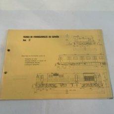 Libros: FICHAS DE FERROCARRILES EN ESPAÑA. VOL-2. Lote 200889135