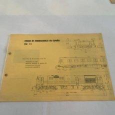 Libros: FICHAS DE FERROCARRILES EN ESPAÑA. VOL-3. Lote 200889325