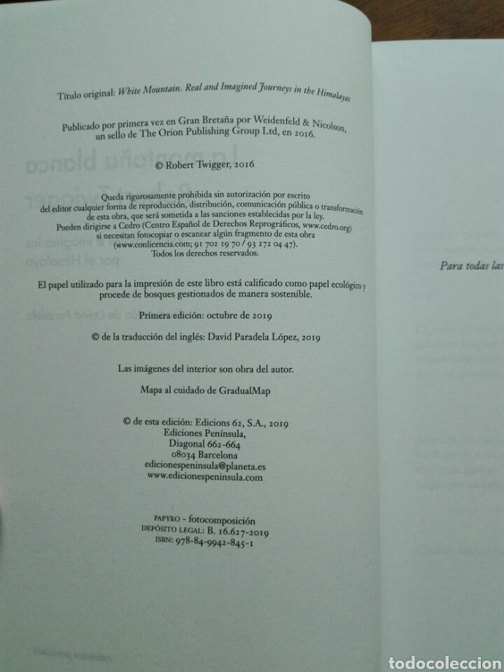 Libros: La montaña blanca Viajes reales e imaginarios por el Himalaya Robert Twigger Libro nuevo. chamanismo - Foto 4 - 192646811