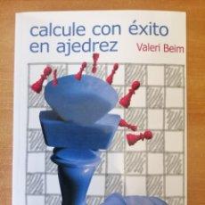 """Libros: LIBRO """"CALCULE CON ÉXITO EN AJEDREZ"""" (ENVÍO INCLUIDO EN EL PRECIO). Lote 205355970"""