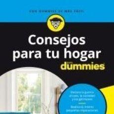 Libros: CONSEJOS PARA TU HOGAR PARA DUMMIES. Lote 210546695