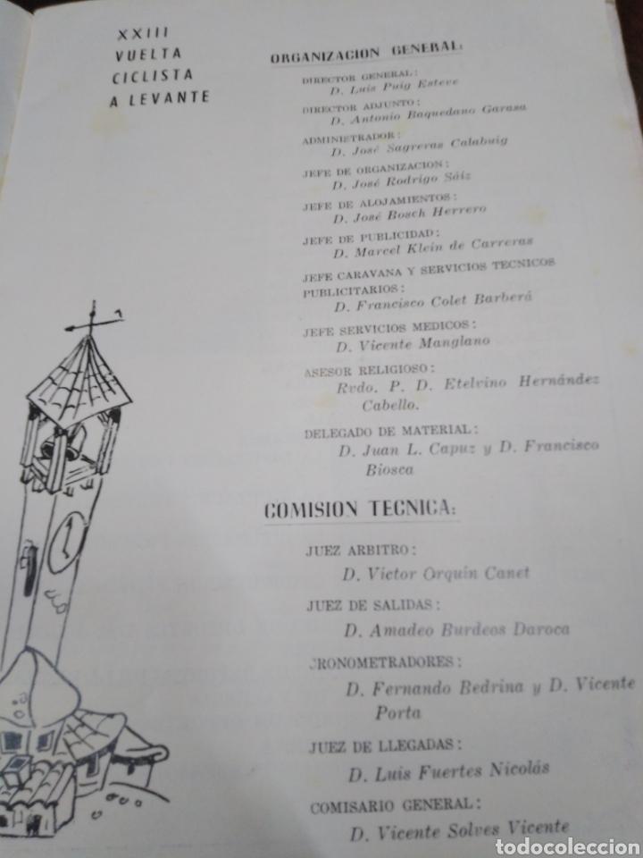 Libros: 23 VUELTA CICLISTA A LEVANTE-HOMENAJE DON VICENTE FERRI VILA(CICLISMO VALENCIANO)1964,ILUSTRADO - Foto 5 - 218503198